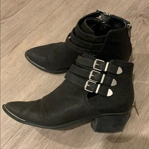 Sam Edelman Black Buckled Ankle Boots